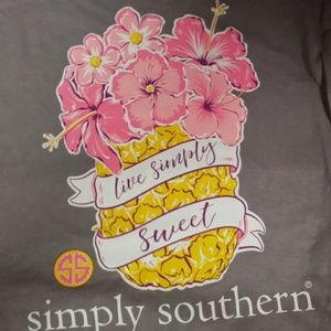 Simply southern pineapple tshirt